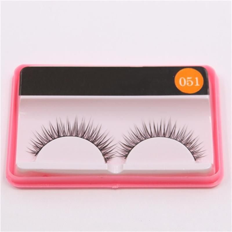High Quality Long Natural Full Strip Lashes Naturally Thick Cross False Eyelashes Makeup Tools M051