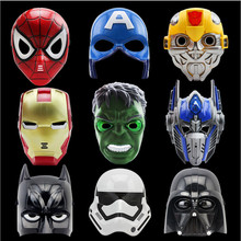 5pcs/lot Halloween Party Birthday LED Cartoon Movie Masks Superhero Batman Spider Man Captain America Hulk Iron Mask