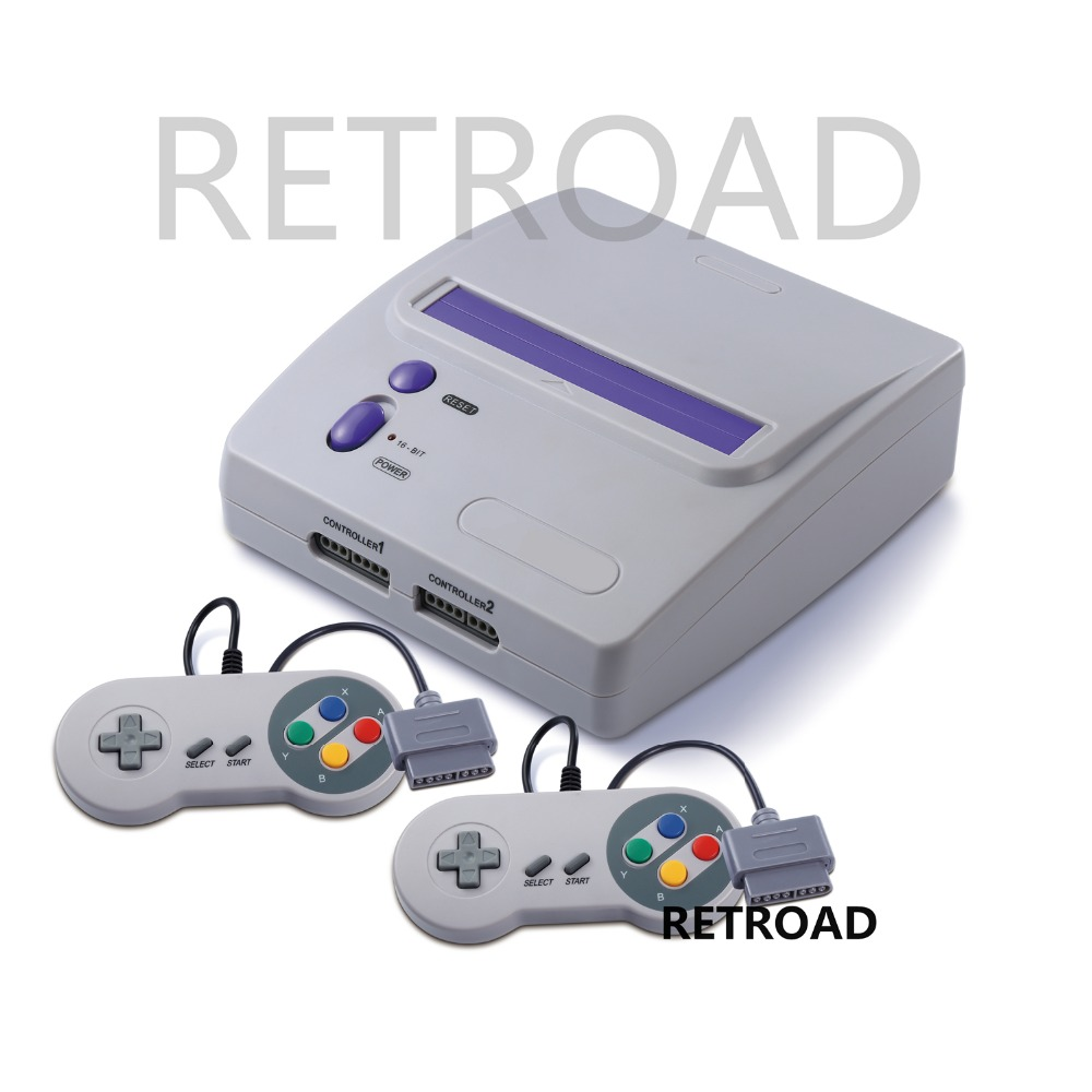 16-bit Entertainment System TV Video Game console   two controllers Play both North America   Japanese Super NES Games