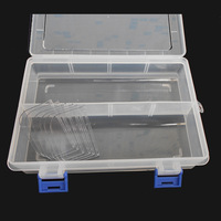TKDMR 8 Case Electronic Component Box Tool Fishing Tackle Box Removable Jewelry Box PP Box Free