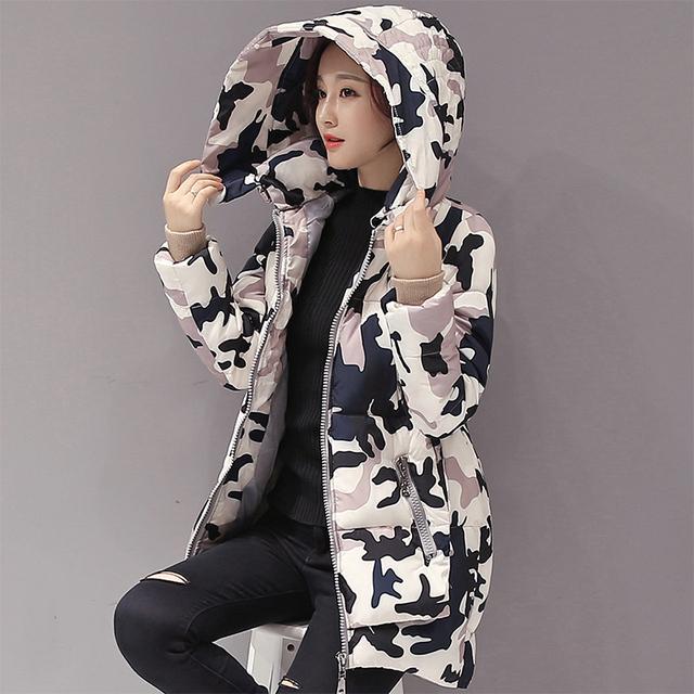 Las mujeres embarazadas abrigo de invierno de algodón acolchado de down de embarazo de maternidad medio-largo con capucha espesar prendas de abrigo