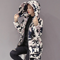 Pregnant women winter coat cotton padded down jacket for maternity medium-long hooded thicken pregnancy outerwear coat