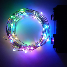 New 3M 30 LED 3AA Battery Powered Copper Wire String Led Lights Indoor Outdoor Fairy Led Lights with Timer and 3 Functions