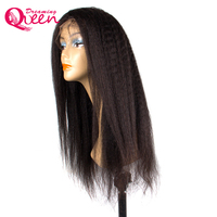 150% Density 360 Lace Frontal Wig Kinky Straight Hair Wig With Baby Hair Brazilian Lace Front Human Wig Dreaming Queen Remy Hair