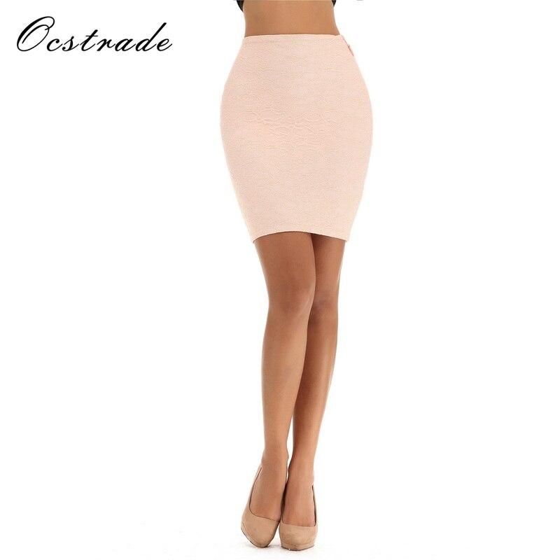 Ocstrade New Skirt 2017 for Women Black Lace Rayon Bandage Skirt Mini