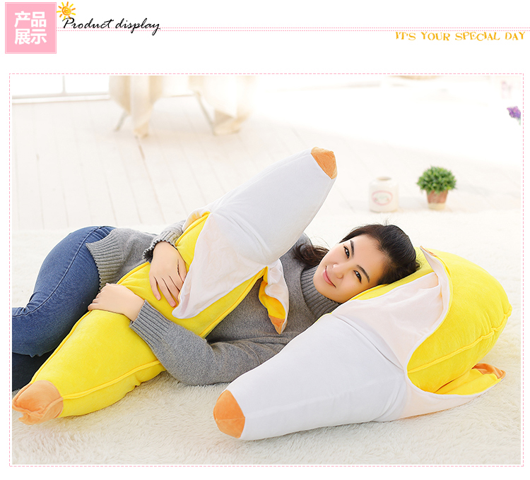 Toys & Hobbies Useful Peeled Banana Plush Toy Stuffed Fruits Bananas Stuffed Sofa Decor Pillow Huggable Kids Comforting Plushie Friends Gift 4 Sizes