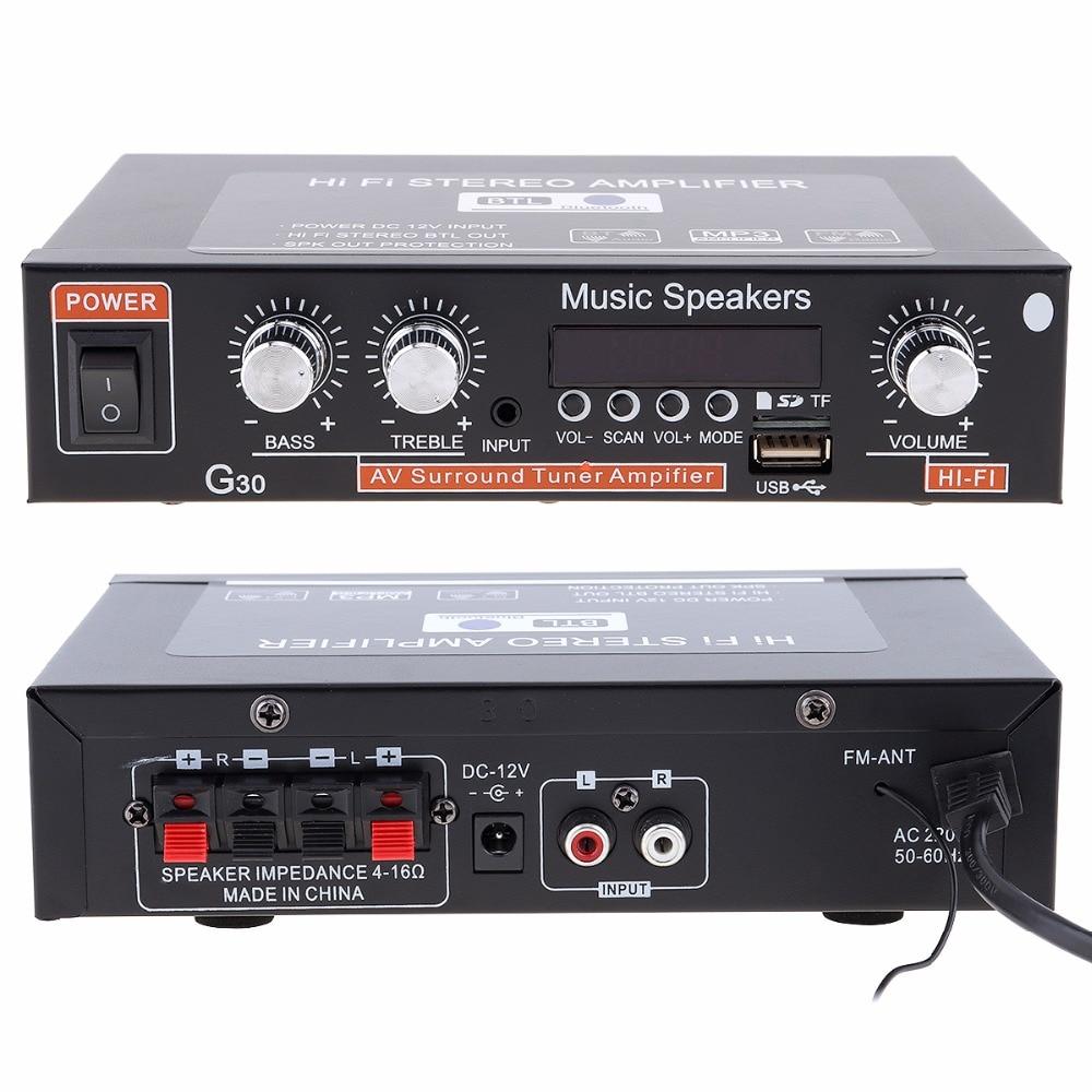 Универсальный г30 системой HiFi Bluetooth автомобильный аудио усилитель FM-радио плеер поддержка SD / USB интерфейс / DVD-дисков / MP3 с дистанционным регулятором
