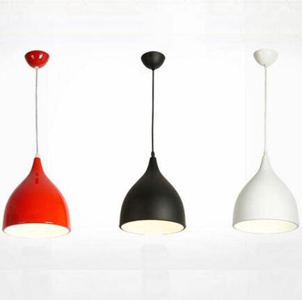 led ceiling pendant lamp black / white / red color indoor home decoration modern led light lighting luminaire radiant shadows wicked lovely
