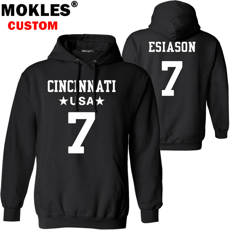 ESIASON pullover free custom name number logo us Boomer autumn winter jersey keep warm Norman Julius pure black ga blue clothing