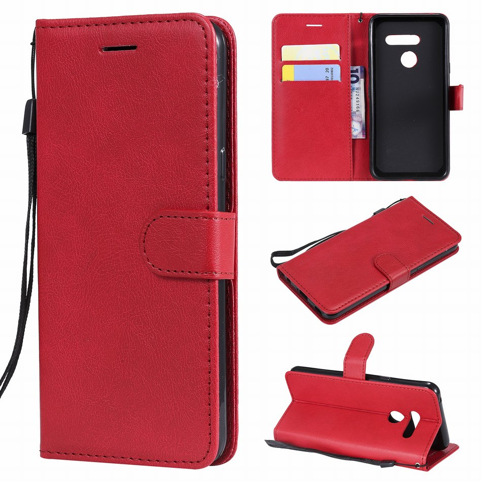 Luxury Flip Phone Case sFor Funda LG Stylo 4 G6 G7 G8 G8S V50 ThinQ K8 K10 2018 Single Color Retro Coque Stand Covers Capa DP07F in Wallet Cases from Cellphones Telecommunications