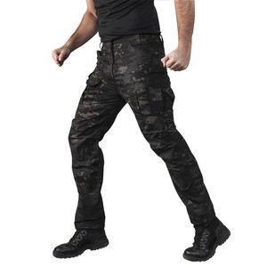 Image 3 - Multi saco estiramento camuflagem tático calças dos homens xadrez à prova dwaterproof água desgastar oposição respirável carga calças ao ar livre militar pant