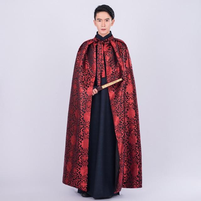 57e3bcb80 Ancient Costume Stage Chinese Opera Costumes Cloak Satin Hanfu Men Robe  Longue Folk Clothes Emperor Kangxi