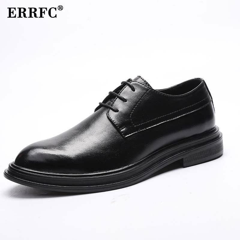 Robe Homme De Noir Laçage Errfc Plate Mode Pointu forme Bureau Loisirs Épais Bas Up Chaussures Richelieu Bout Hommes Britanniques nPXOk80w