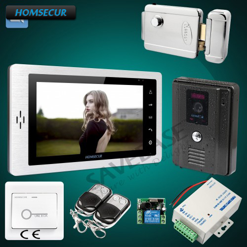 HOMSECUR Hand-Free 7inch Video Door Entry Security Intercom with User Friendly Design of OSD Menu