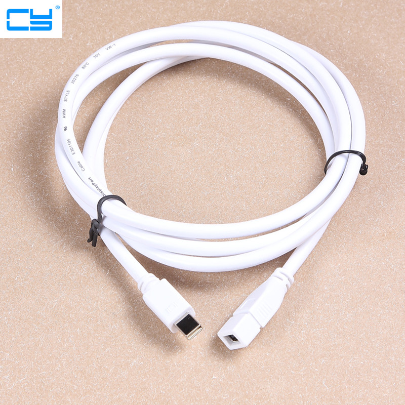 20cm 180cm Mini DP Male To Mini DisplayPort Thunderbolt Female For Surface Pro ASUS M/F Extension Cable Adapter
