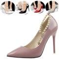 2016 Новый Сексуальный Высокие Каблуки Обуви Мода Diamond Pearl Женщины Высокие Каблуки Насосы Обувь Элегантных Женщин Острым Носом Партия Обуви