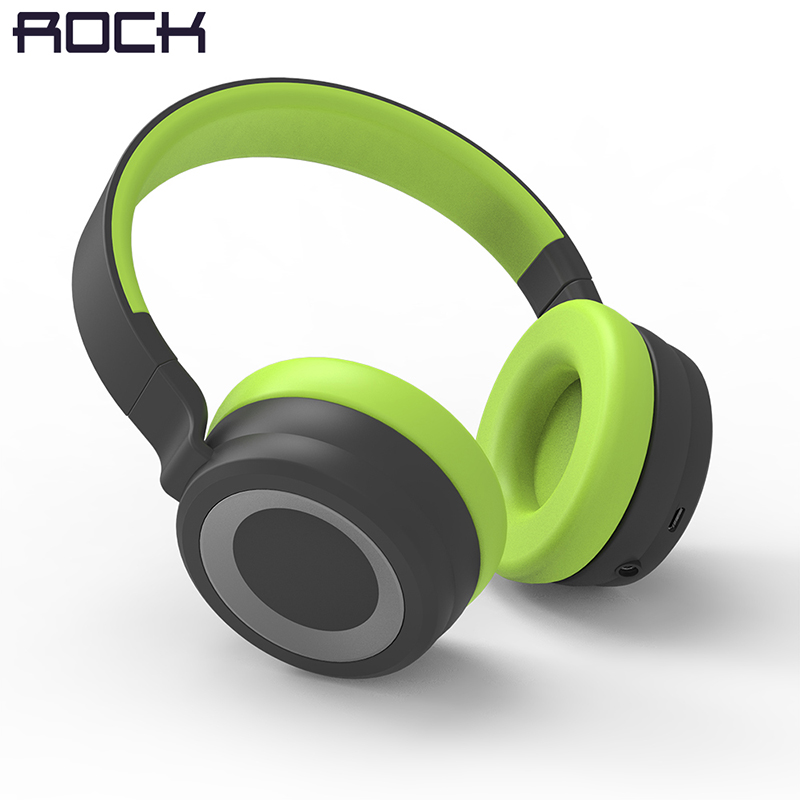 ROCK Space Series Wireless Bluetooth Headphone, Stereo Bass Over Ear Wireless Earphone Headset For Computer/ Phone Headset rock muca bluetooth earphone