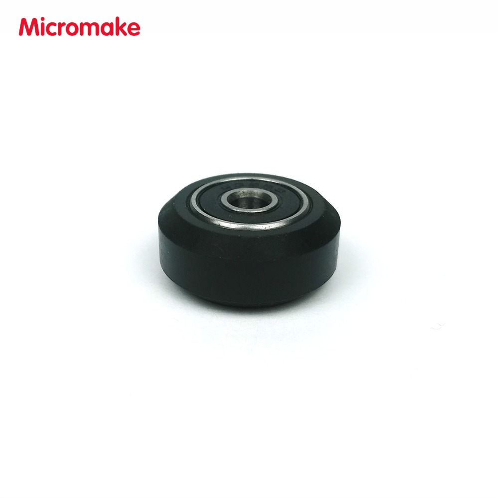 Micromake 3D Printer Parts 10pcs High tolerance CNC Solid V Wheel Kit for V-slot Delrin Precise POM V slot Wheel