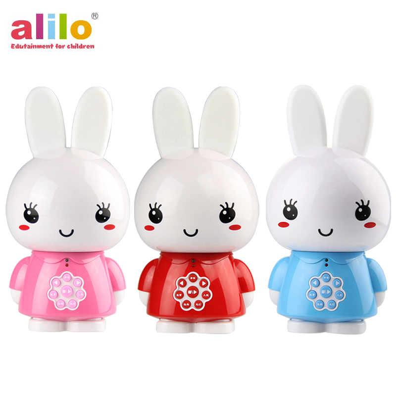 English Alilo Honey Bunny G6 mp3 music story telling digital player newborn classic baby toys brands музыкальная игрушка умный зайка alilo r1 синий alilo