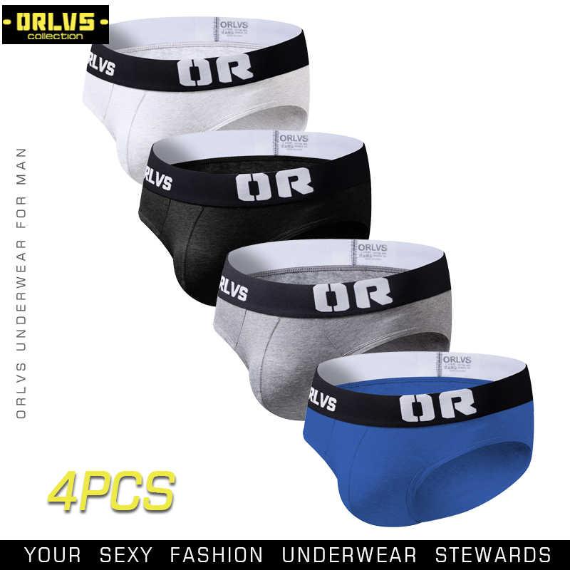 ORLVS 2018 новые модные мужские сексуальные брифы удобные дышащие мужские трусы мужское белье cueca Ropa Interior Hombre H69