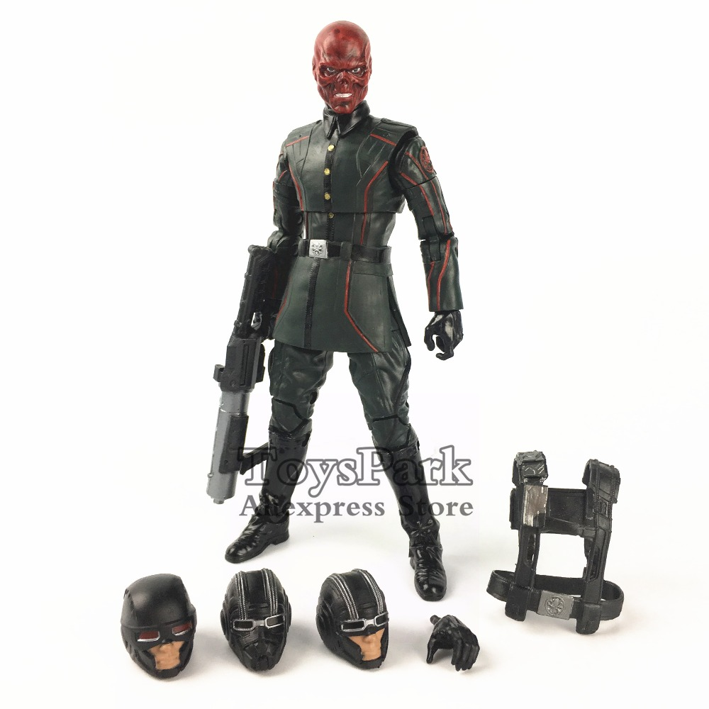 Marvel Legends 10th Anniversary Red Skull 6 Action Figure Studios The First Ten Years Captain America Collectible Original