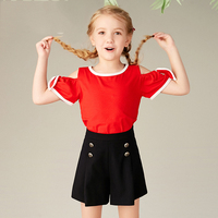 Short sleeved White T shirt for Girls and Adolescents