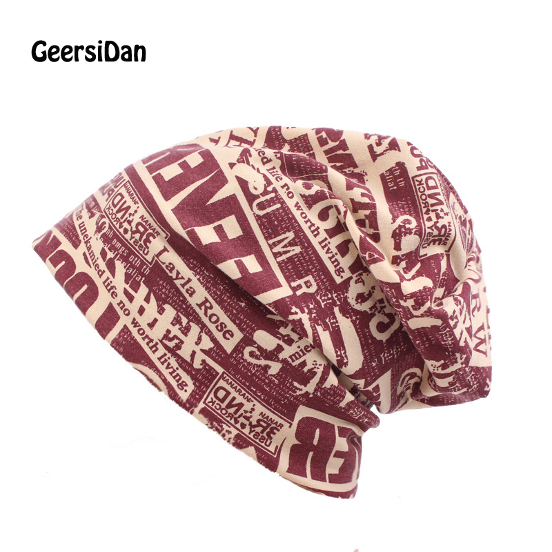 GEERSIDAN Autumn Winter Letter Hedging Cap Men Women Skullies Beanies fashion Knitting Caps Bonnet Double Layer Thin Cotton Hat winter women hedging skullies beanies knitting caps bonnet double layer cotton knitted hat lace cap