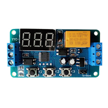 Time delay relay module, signal cycle timing pull-in, switch 3V 3.7V 4.5v 5v 6v