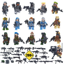 16/12pcs SWAT CSF Team Leader Military Equipment Counter-terrorism Weapons Building Block Small Figure Toy compatible with lego(China)