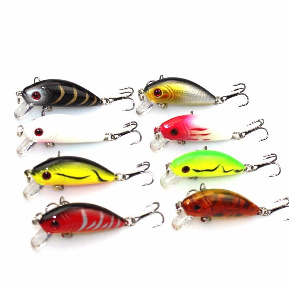 New 8pcs 3 5g 5cm crank bait fishing lures minnow hard for 5 3 fishing