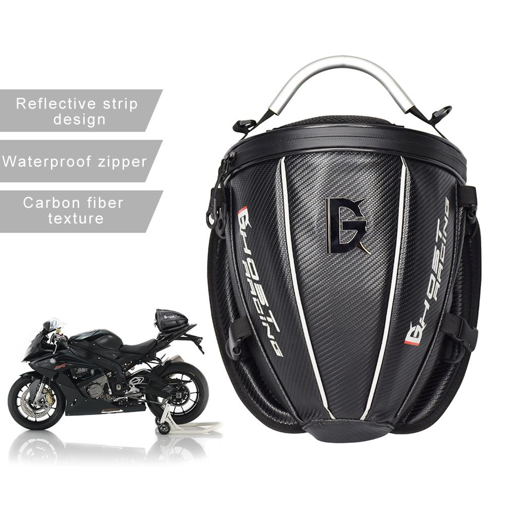 Motorcycle Bag Tail Bag Multifunctional Waterproof Motorcycle Backpack Leather Luggage Riding Backseat Rear Storage Bag