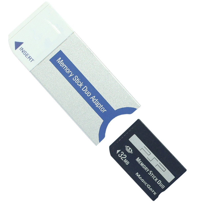 PSP קידום ביג 32MB Memory Stick Pro Duo Memory Card 32MB עבור PSP / מצלמה עם זיכרון Stick MS Pro כרטיס מתאם Duo (1)