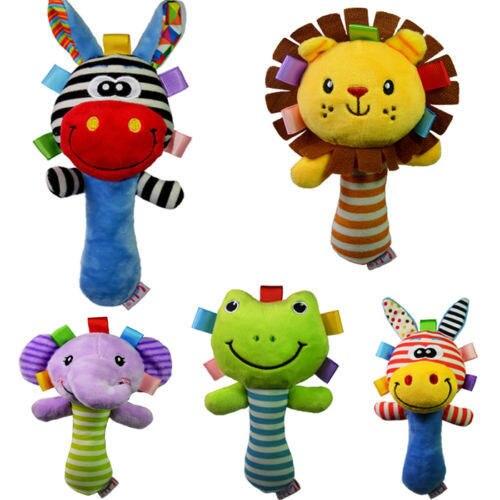 Developmental Animal Plush Toy Baby Kids Infant Handbells Bed Bell Soft Rattle