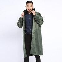 Atmungsaktive Regenmantel Lange Grün Abdeckung Regen Mantel Männer Reflektierende Windjacke Poncho Hut undurchlässig lluvia Wasserdichte Mantel LZO232-in Regenmäntel aus Heim und Garten bei