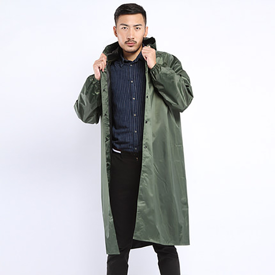 Breathable Raincoat Long Green Cover Rain Coat Men Reflective Windbreaker Poncho Hat impermeable lluvia Waterproof Coat LZO232|Raincoats| |  - title=