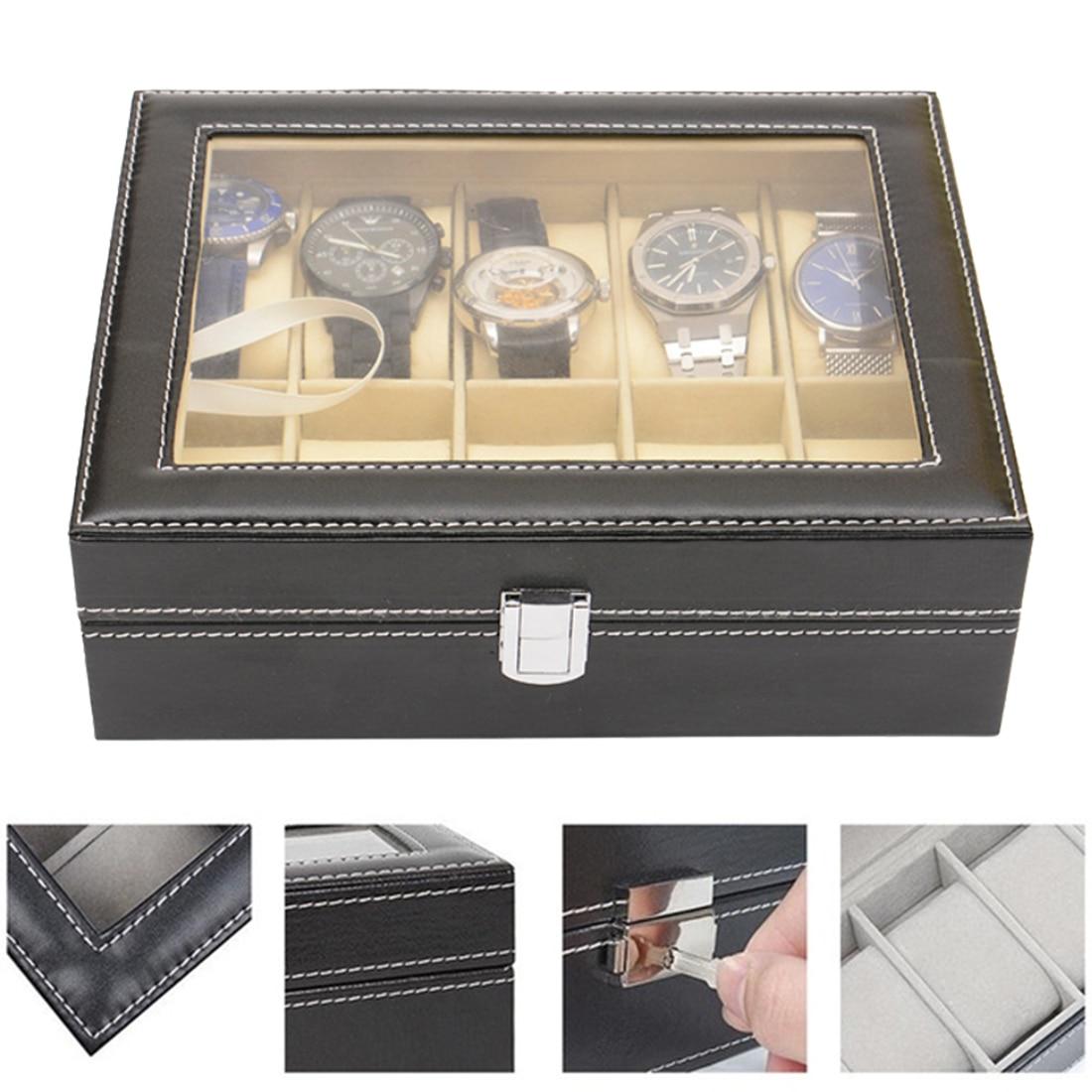 Wood Watch Box  Fashion Watch Display Case Mechanical Watch Storage Case Jewelry Gift Boxes Wristwatch Box