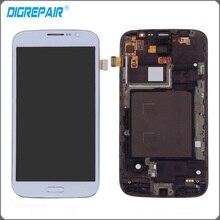 Blanc Pour Samsung Galaxy Mega 5.8 i9150 i9152 LCD Affichage Écran tactile Digitizer avec Lunette Cadre Assemblée Complet Livraison Gratuite!