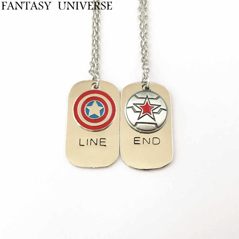 FANTASY UNIVERSE Freeshipping 1pcs Captain America and Winter soldier Falcon Sam Wilson charm necklace NFHNEJ01