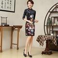 High Quality Women Short Dress Slim Chinese Traditional Dress Female Cheongsam Qipao Chinese Films Stage Performance Costume 16
