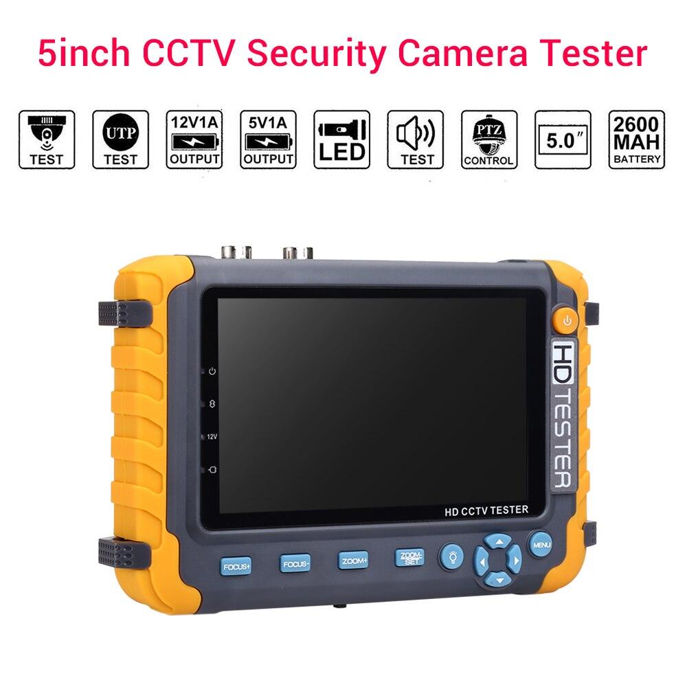 Écran de vidéosurveillance 1080 P hdmi testeur 5 pouces cctv testeur moniteur bnc 5MP vga câble testeur de sécurité caméra testeur Support CAM