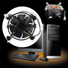 High Quality PC CPU Cooler Cooling Fan Heatsink For Intel Core 2 LGA Socket 775 to 3.8G E97375-001 4Pin 12V