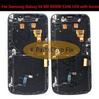 For Samsung Touch Screen For Samsung Galaxy S4 SIV ZOOM C101 LCD with frame Screen Display Touch Screen Digitizer Assembly Blue