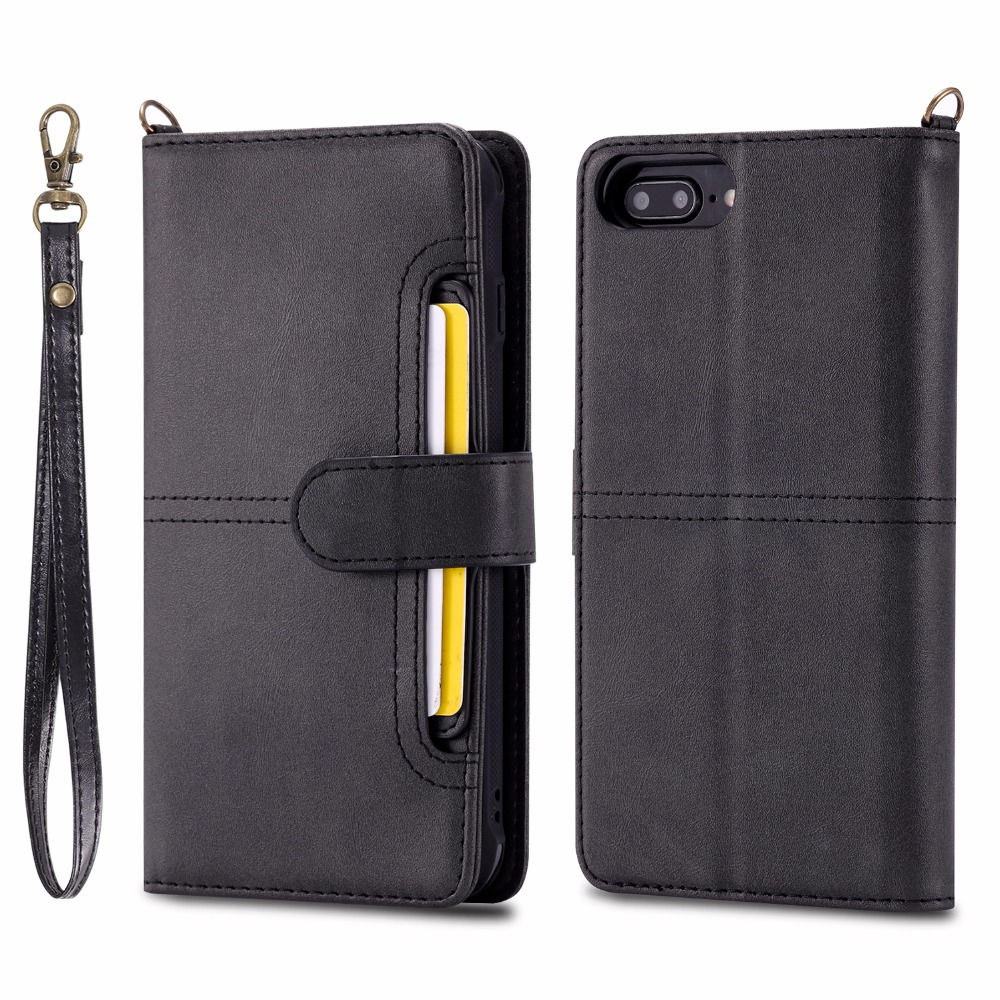 Luxury PU Leather Flip Case for apple iphone X 6 6S 7 8 plus 6plus 6splus 7plus 8plus card slots coque flip funda cover wallet in Flip Cases from Cellphones Telecommunications