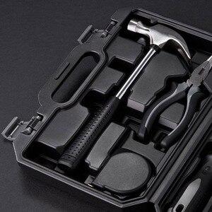 Image 5 - Youpin JIUXUN Caja de Herramientas de Kit de herramientas DIY para el hogar, herramienta de mano General con destornillador, llave y martillo, alicates de cinta, cuchillo, caja de herramientas, 12/60 Uds.