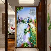 2016 Hot Sale Diy 5D Diamond Embroidery Painting Cross Stitch Peacock Picture 5D Needlework Diamond Mosaic