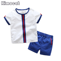 Kimocat Brand New Fashion Kids Clothes Boys Summer Set T Shirt Short Pants Baby Boy Clothing
