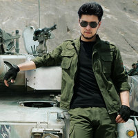101 Airborne Division Clothes Military Tactical Suit Hunting Clothes Army Green Camouflage Style Wear Cotton Overalls