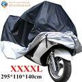XXXXL Impermeable Motocicleta Al Aire Libre Cubierta de Polvo UV Protector Moto Lluvia Cubierta A Prueba de Polvo Ropa de Costura 295x110x140 cm