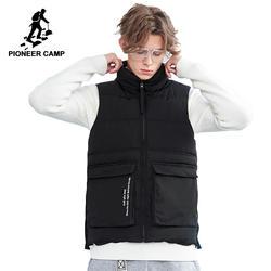 Пионерский лагерь Новое поступление толстый мужской жилет брендовая одежда Модный осенне-зимний жилет мужской наивысшего качества черный