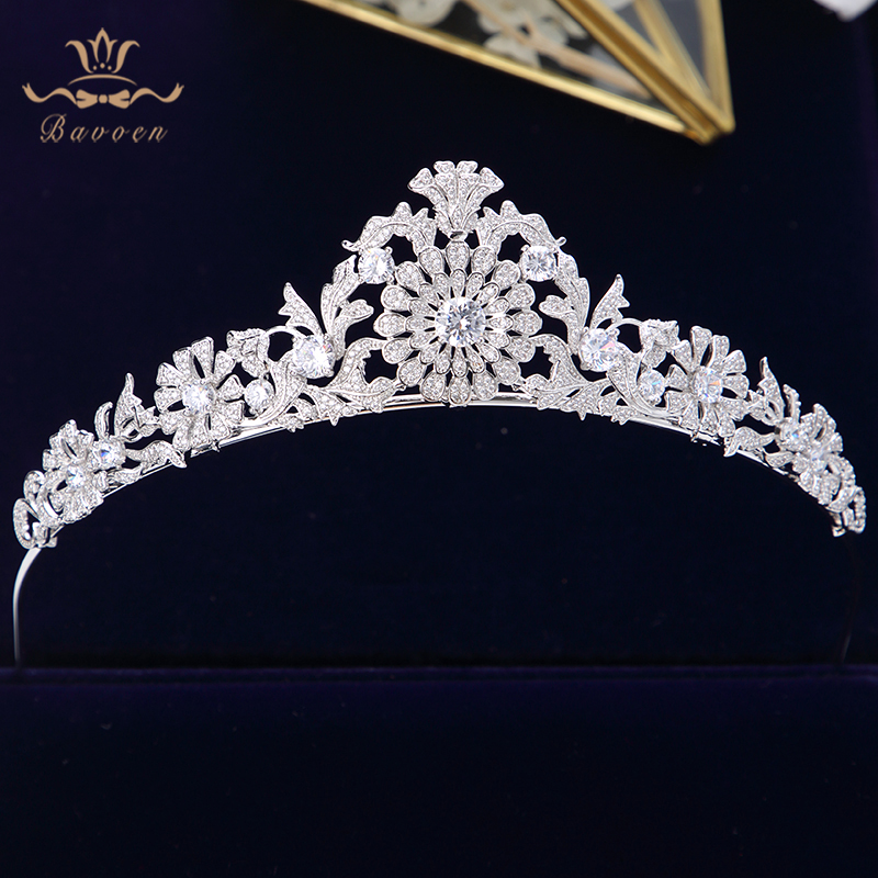 Top Quality Princess Crystal Wedding Hair Accessories Brides European Zircon Hairbands Queen Silver Tiaras Crowns